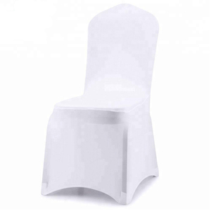 white 170gsm wholesale cheap universal wedding flat front chair cover
