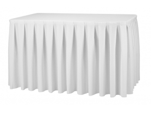 Customized Table Skirt with Box Pleats