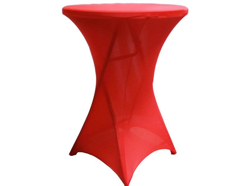 Black Lycra cocktail table cover wholesale