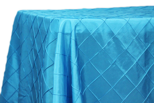 Wholesale 90x156 Customize Rectangular Pintuck Taffeta Tablelcloths