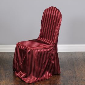 Striped Satin Banquet Chair Cover Factory