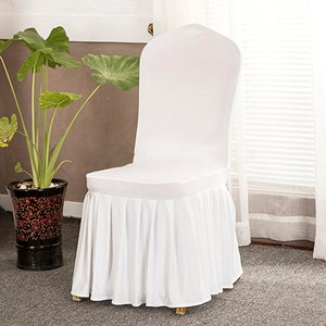 Wholesale spandex ruffled white slipcover chair covers for weddings party