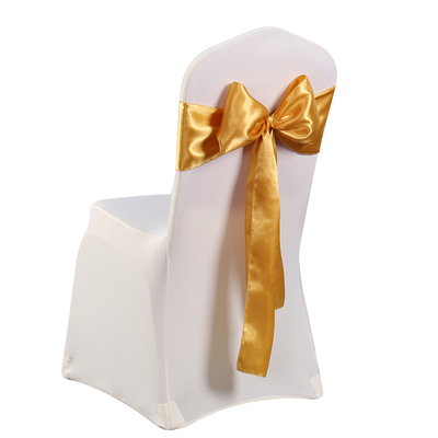 wholesale factory supply cheap wedding satin chair sash bow for banquet