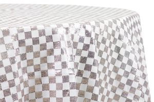 Checkered Glitz Sequin Round Table Cloth