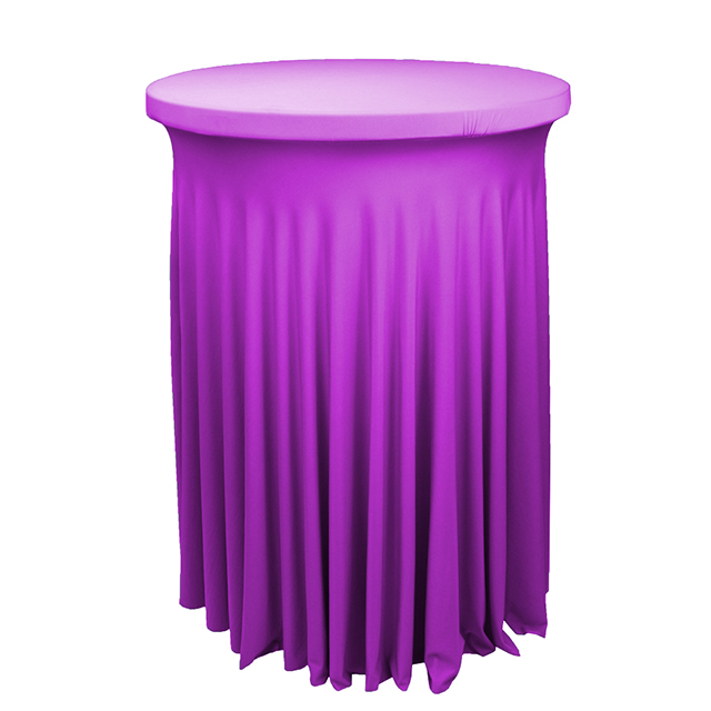 "Stretch spandex Round 30"" wavy cocktail table cover spandex tablecloth factory"