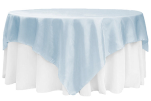 90 Square Satin Table Overlay