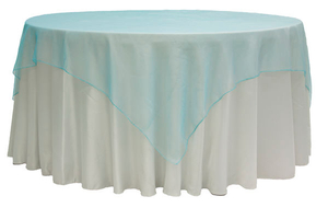 72 Square Organza Table Overlay