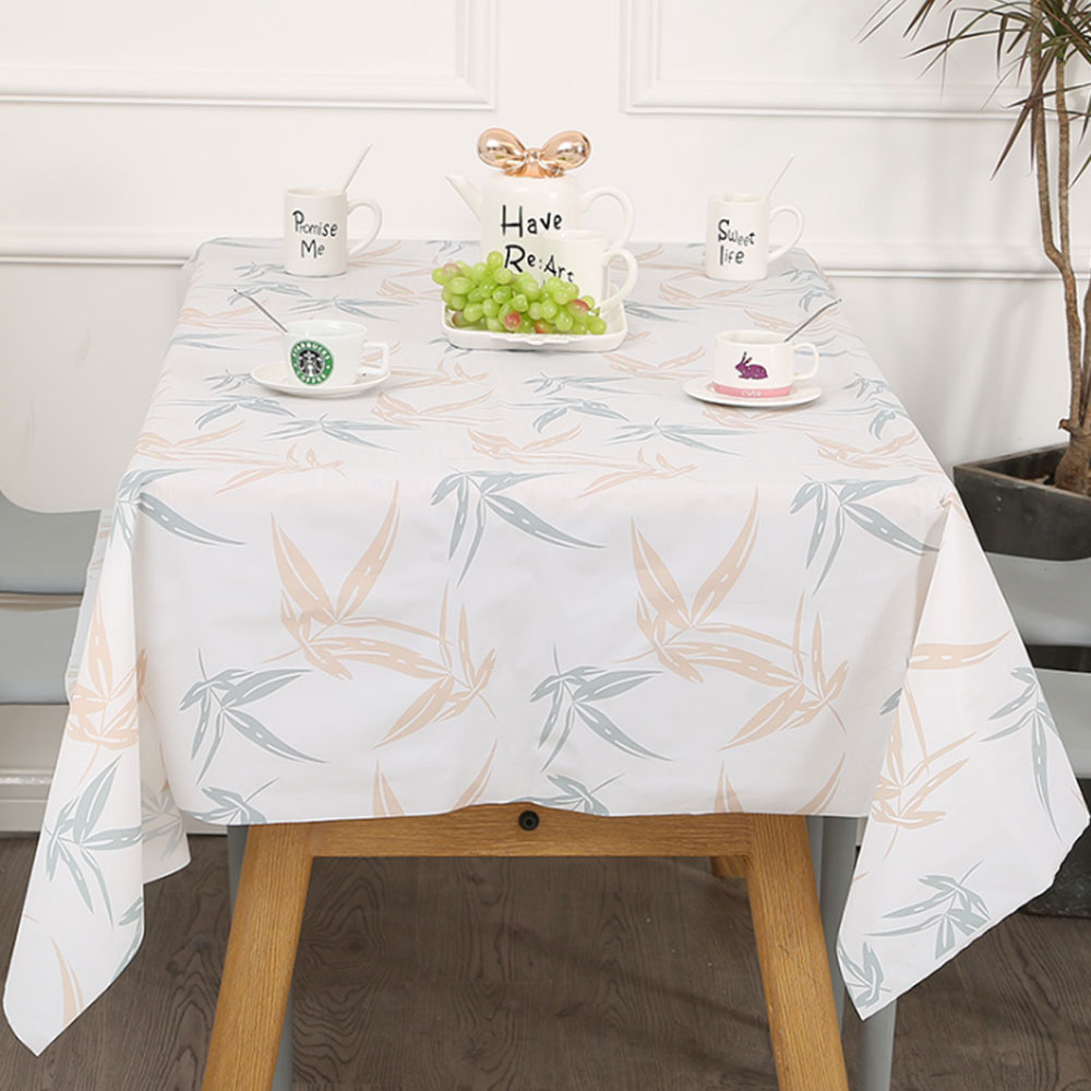 tablecloth waterproof oil-proof washable cloth art TV cabinet tea table PVC plastic ironing proof student table mat