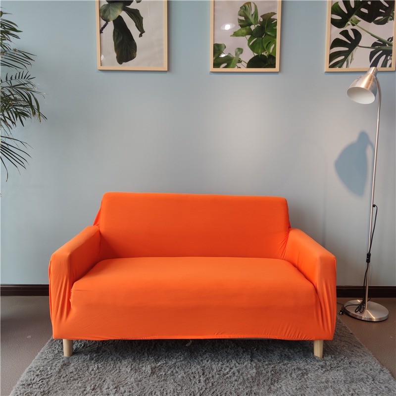 orange waterproof stretch sofa cover spandex washable couch covers for dining room
