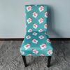 wholesale spandex christmas printed dining chair cover for dining room office kitchen