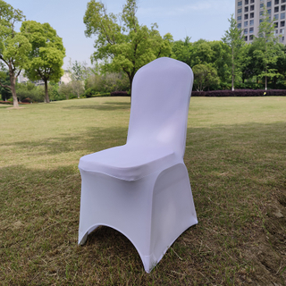 wholesale white spandex banquet chair cover for wedding party outdoor