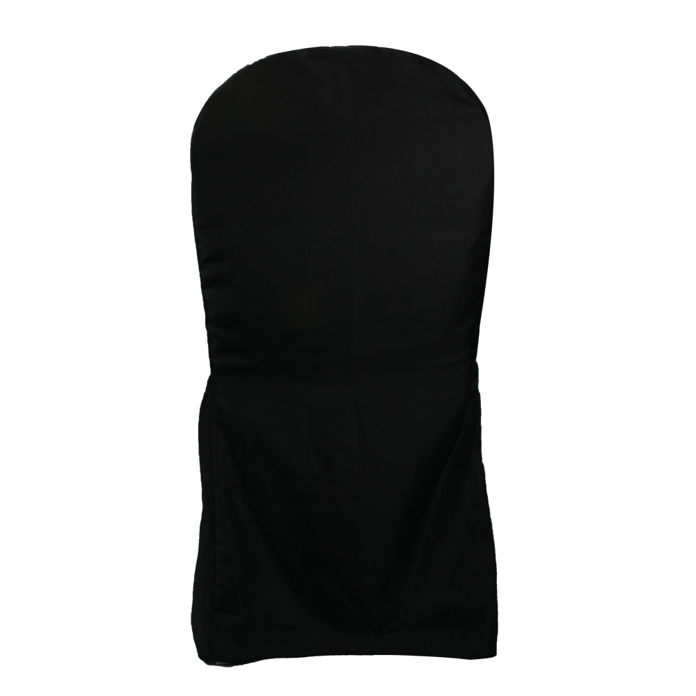 Wholesale wedding textile black fancy folding chair covers events party