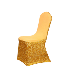 Glitter stretch gold sequin spandex/lycra/stretch banquet chair covers for wedding receptions