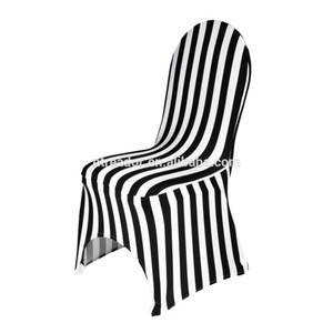 Wholesale black and white stretch banquet chair cover wedding