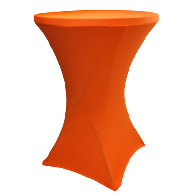 Wholesale orange cocktail spandex table cover china round best table cloth outdoor