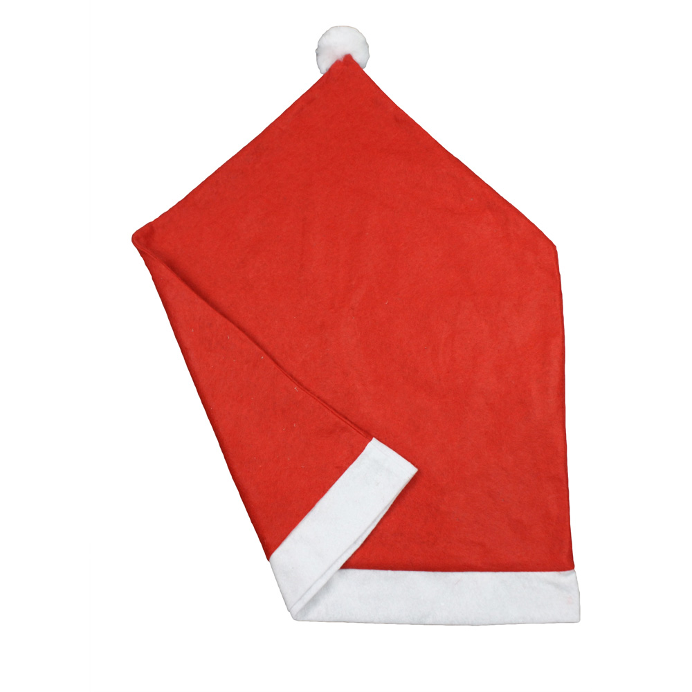 Red Polyester Chair Back Decoration Dining Chair Cover Christmas Chair Covers