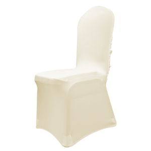 165 or 190 GSM Beige Stretch Spandex Banquet Wedding Chair Cover With Foot Pockets