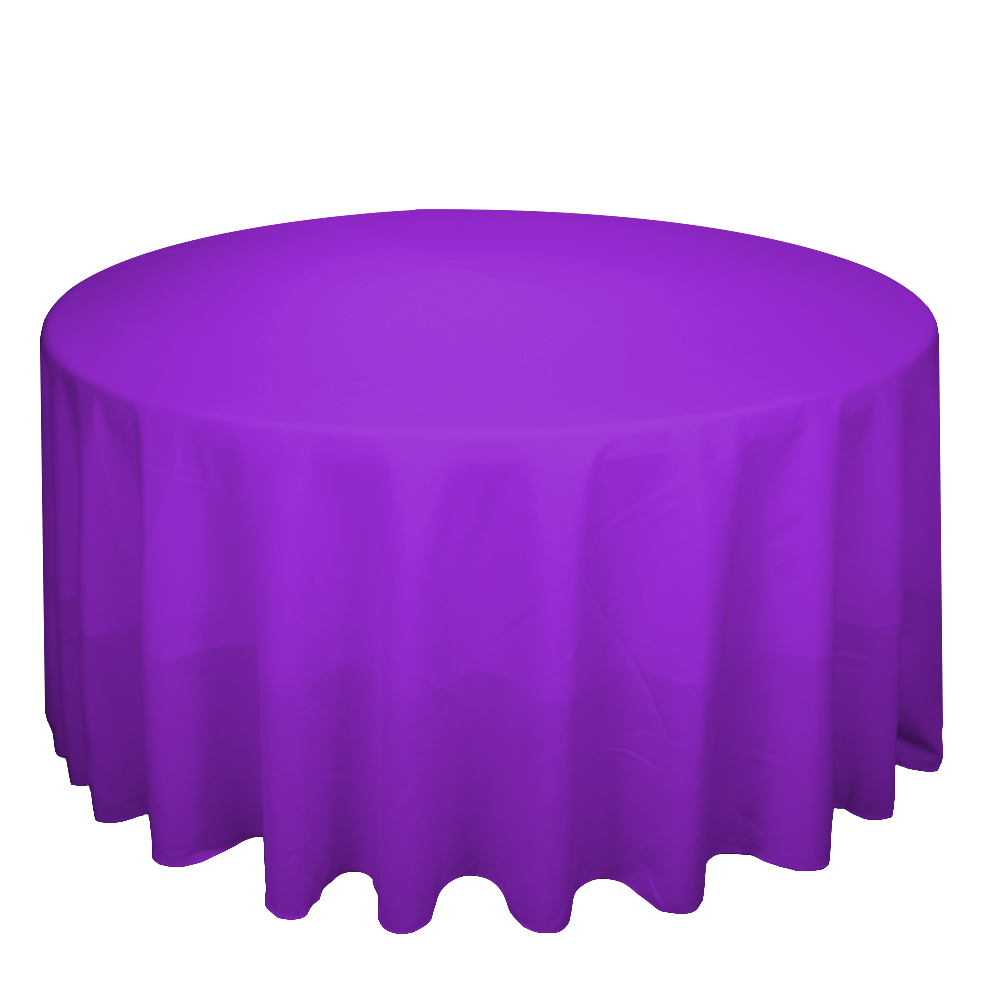 Wholesale white fitted polyester round linen banquet wedding table cloth tablecloths for sale