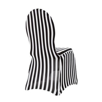Striped spandex banquet chair cover wholesale
