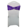 Wholesale cheap rose gold sequin stretch spandex wedding chair sashes for sale