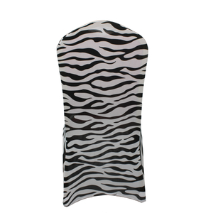 Wholesale luxury banquet wedding zebra print slipcovers chair covers spandex housse de chaise